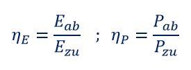 Formel Wirkungsgrad